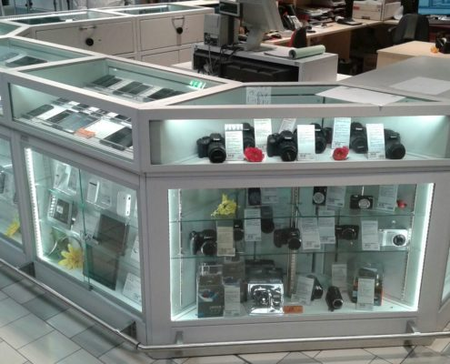 Banco Multimediale in acciaio e vetro blindato