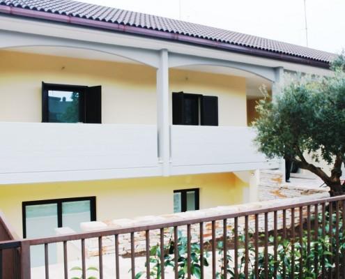 Panoramica realizzazione lavoro Schuco presso villa privata