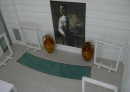 Panoramica dall'alto vetro decorativo sagomato acidato blindato 26/27