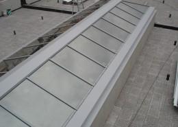 Lucernario realizzato con profilo in alluminio Metra