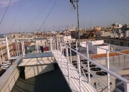 Passerella tetto terrazzo in ferro zincato a caldo e verniciato con vernice ipossidica ad alta prestazione