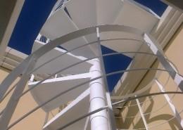Particolare scala, tubo struttura da 120